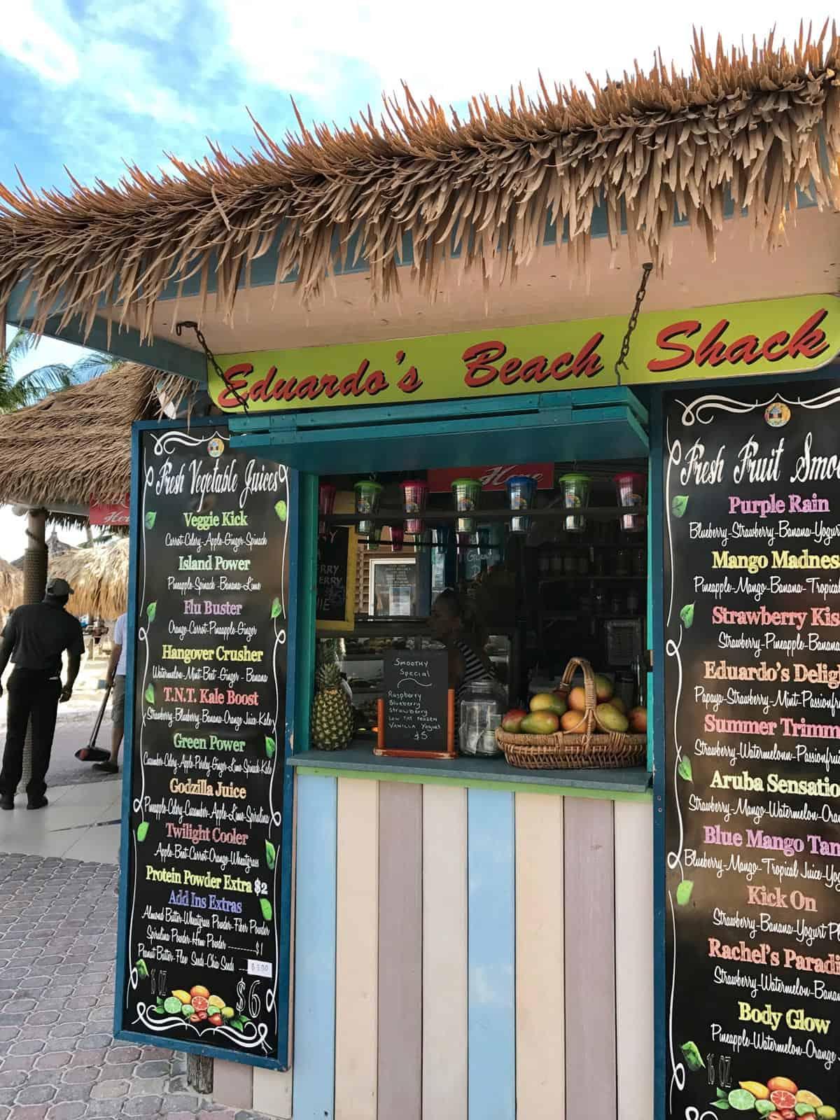 Aruba - Palm Beach - Eduardo's Beach Shack - from afarmgirlsdabbles.com