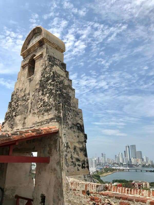 a view from Castillo de San Felipe de Barajas at Cartagena, Colombia