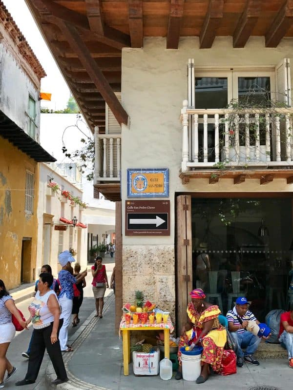 locals in Cartagena, Colombia