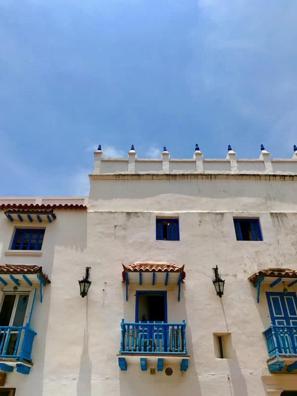 a white building in Cartagena, Colombia