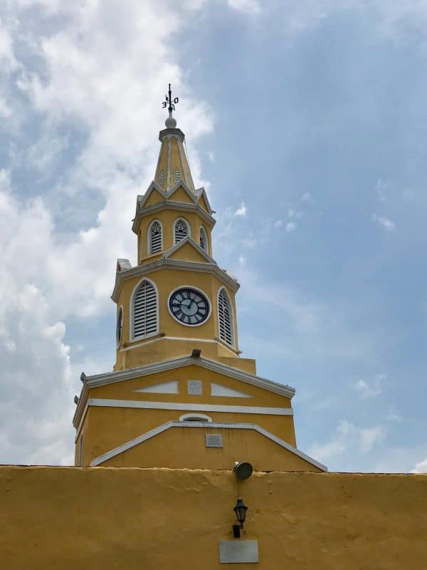 Torre del Reloj Público (Public Clock Tower) in Cartagena, Colombia