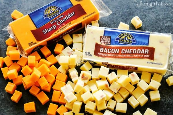crystal farms cheese cut into cubes