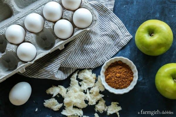 Cinnamon Streusel Apple French Toast Cups ingredients