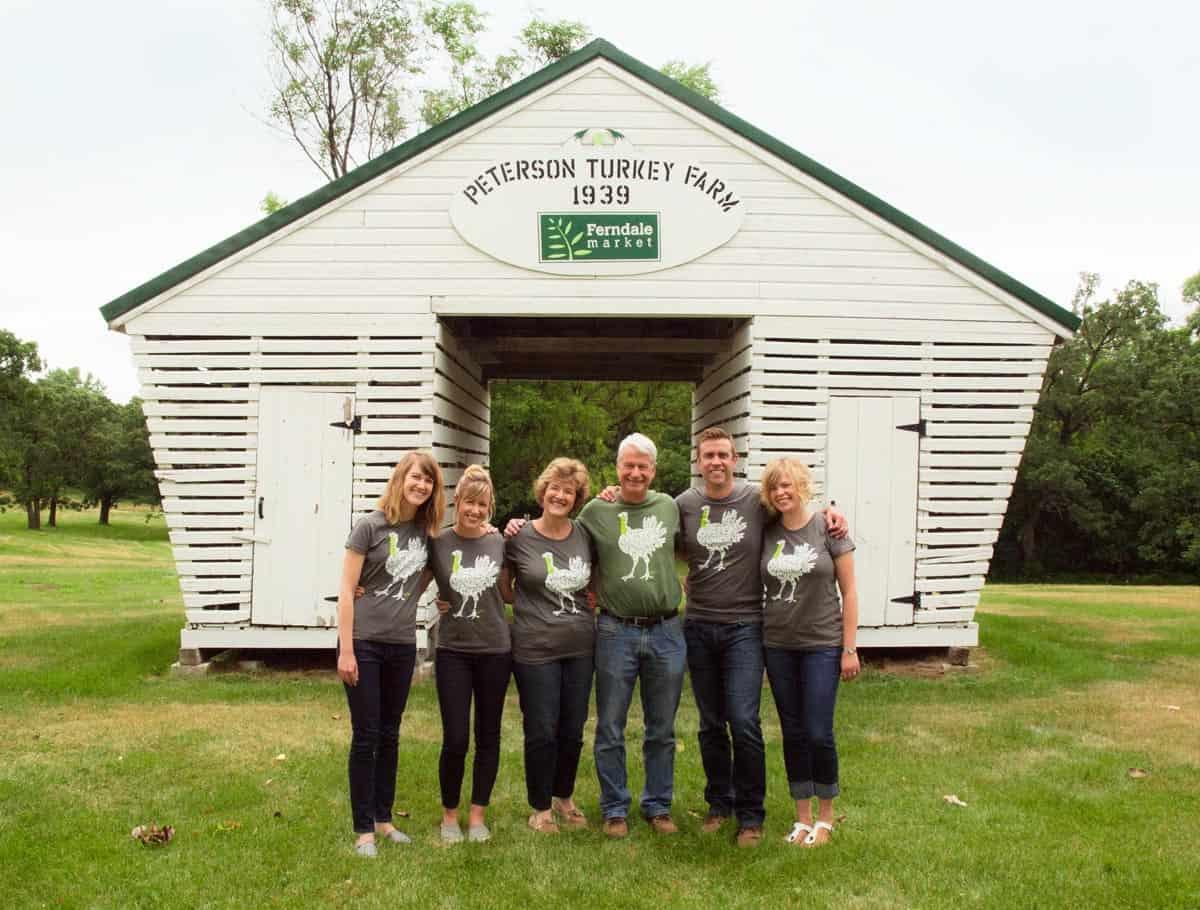 The Peterson family of Ferndale Market turkey farm