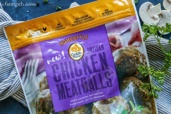 Extra Peppery Chicken Meatball Stroganoff from afarmgirlsdabbles.com