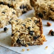 Chewy Granola Bars with Almonds and Wild Blueberries