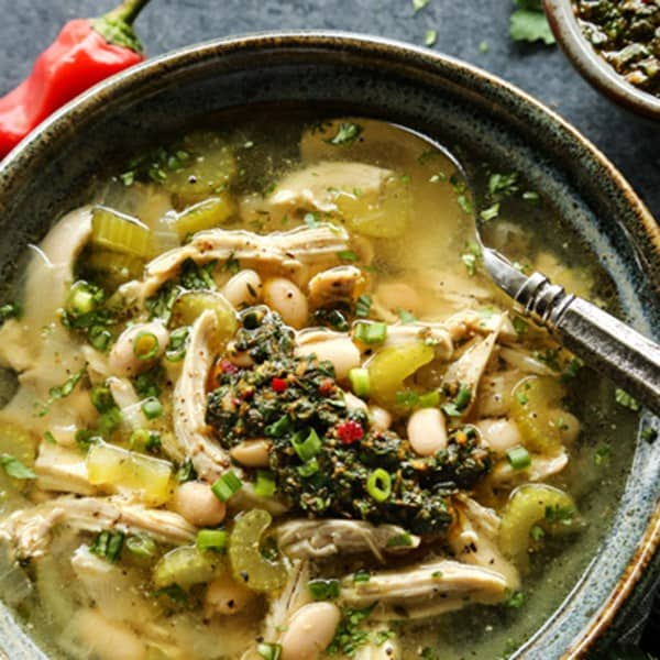 Chimichurri Chicken Soup