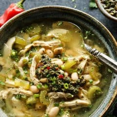 chimichurri chicken soup