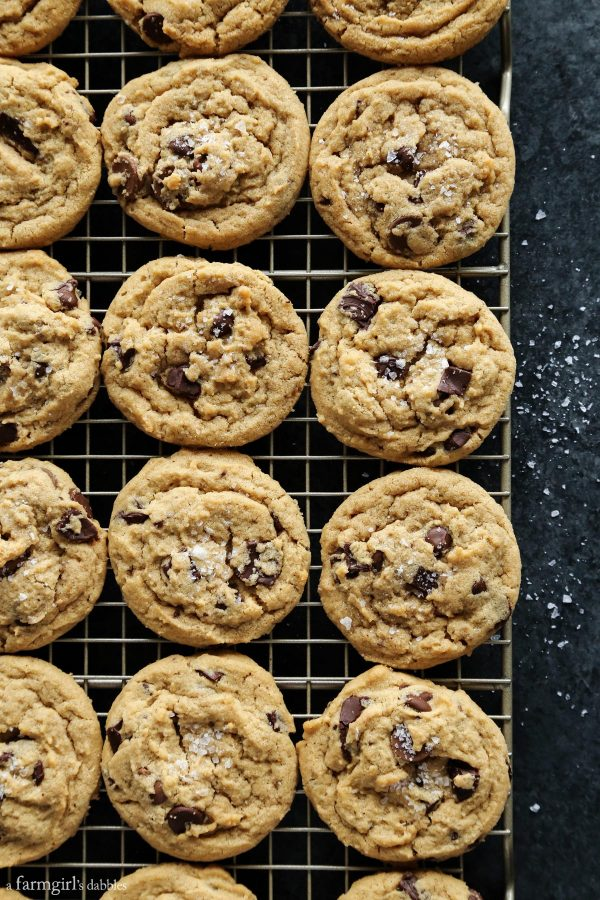 Triple Chocolate Peanut Butter Cookies with Sea Salt from afarmgirlsdabbles.com