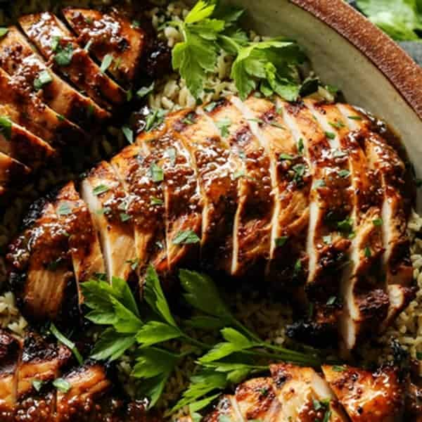 Grilled Turkey Tenderloin with Brown Sugar and Whole Grain Mustard