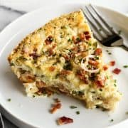 slice of Quiche with Crab and Bacon