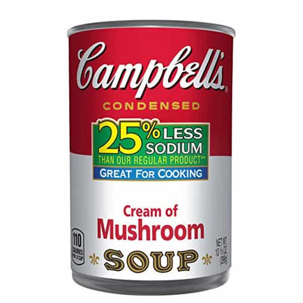 Less Sodium Cream of Mushroom Soup