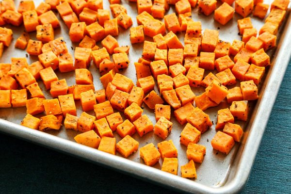 cubed sweet potatoes
