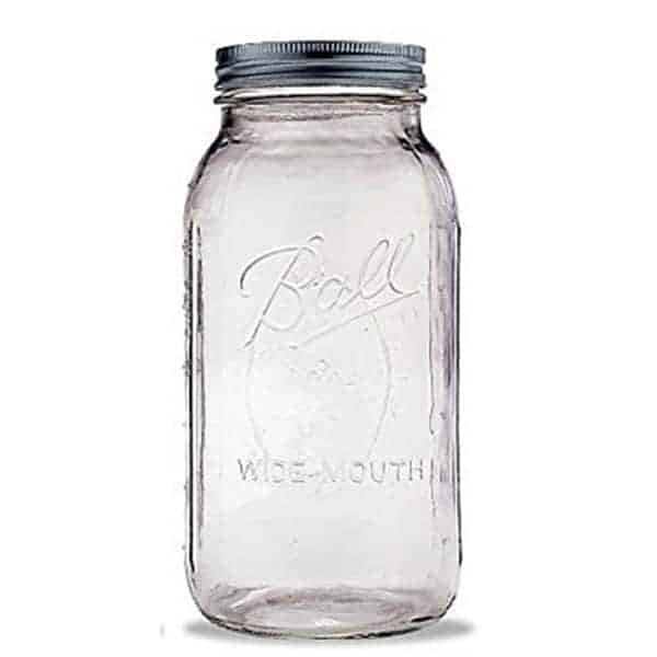2 Quart Wide Mouth Canning Jar
