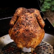 beer can chicken on the grill