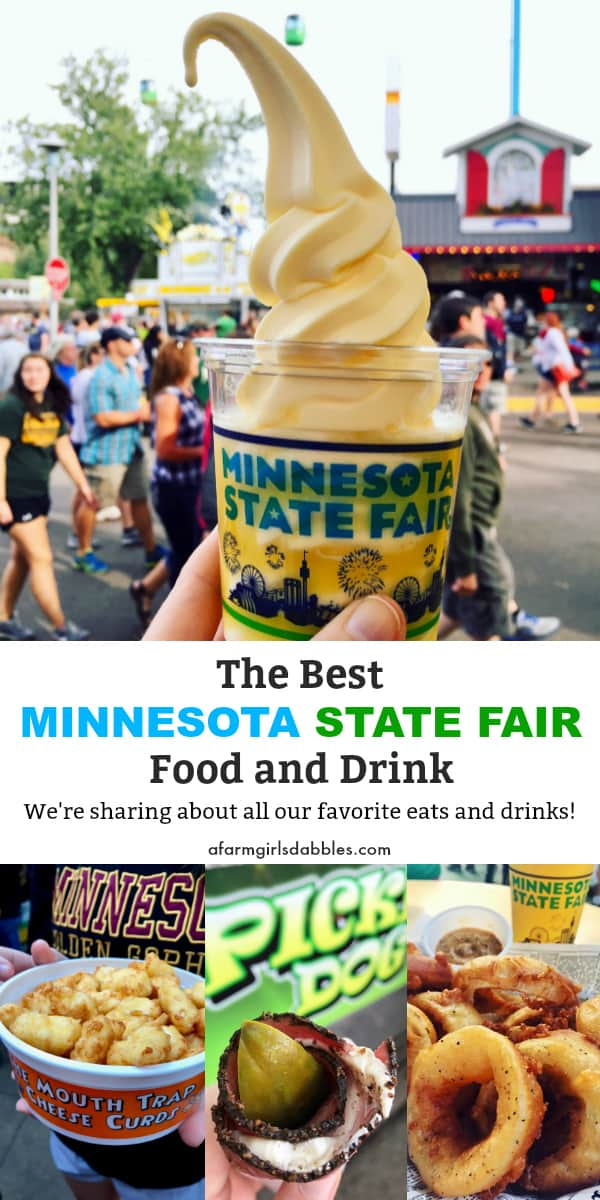 Best Minnesota State Fair Food and Drink from afarmgirlsdabbles.com - We've been attending the Minnesota State Fair for twenty years in a row, and we're sharing about all our favorite eats and drinks! #minnesota #fair #statefair