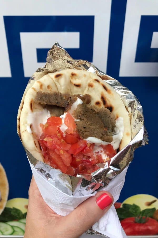 Greek gyro sandwich with gyro meat, tomatoes, and tatziki sauce, Best Minnesota State Fair Food and Drink