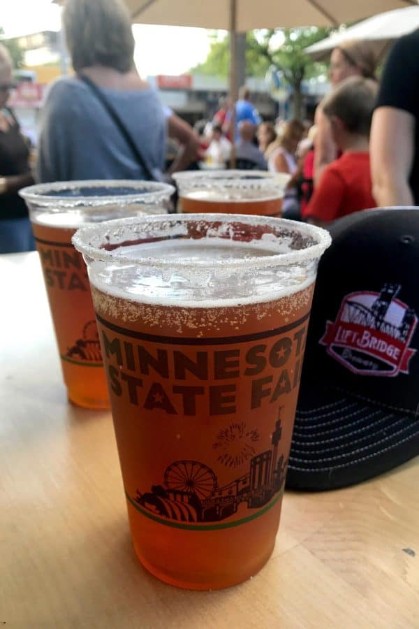 Best Minnesota State Fair Food and Drink from afarmgirlsdabbles.com - Mini Donut Beer from Lift Bridge Brewery