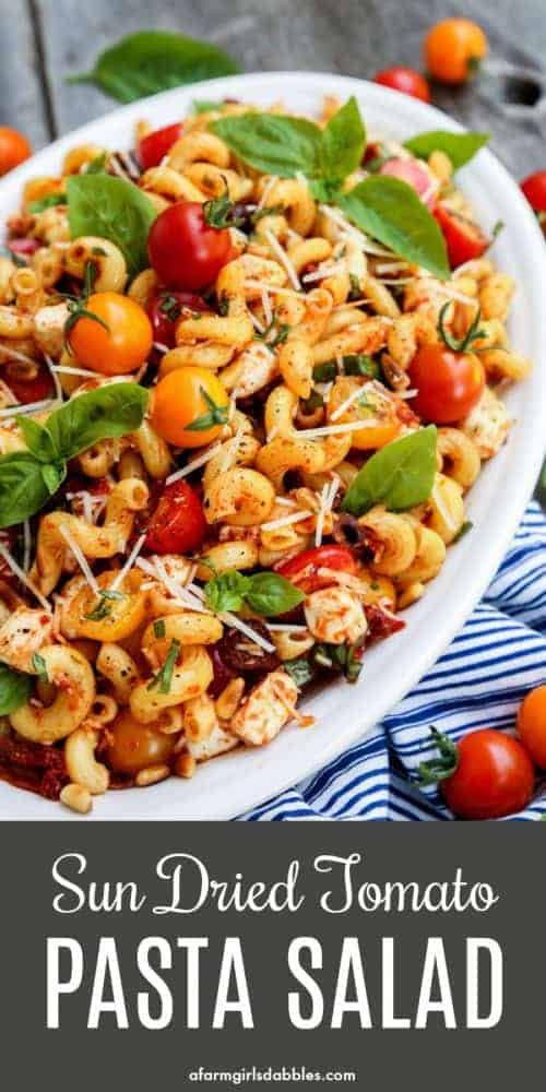 pinterest image of Sun Dried Tomato Pasta