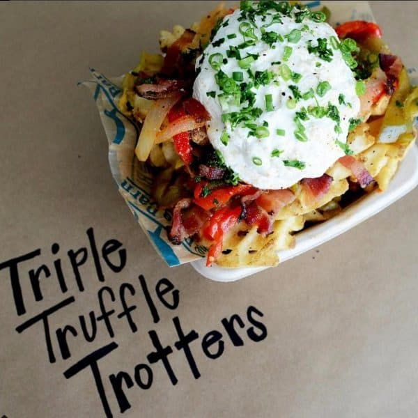 Best Minnesota State Fair Food and Drink from afarmgirlsdabbles.com - Triple Truffle Trotters from The Blue Barn