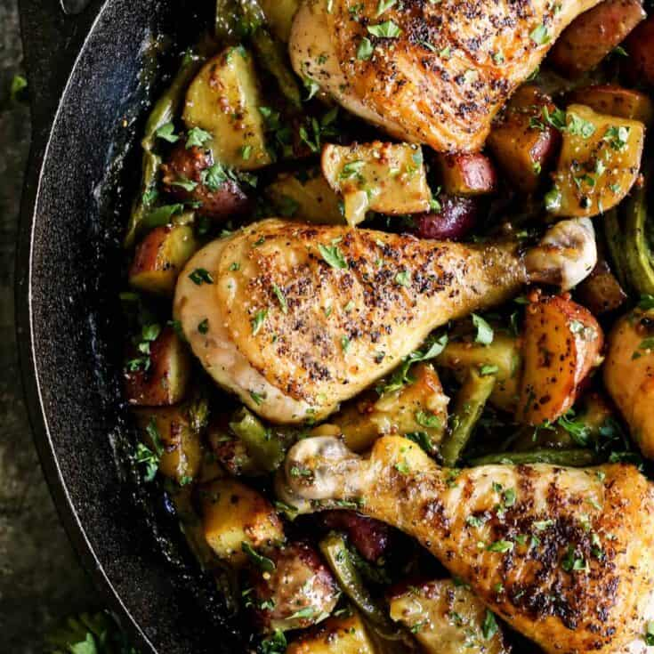 One Pan Honey Mustard Chicken and Vegetables