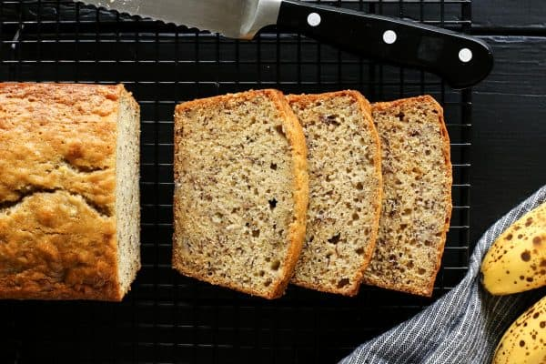 sliced Sour Cream Banana Bread