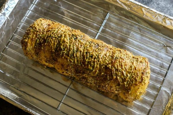 Pork Loin Roast with mustard sauce