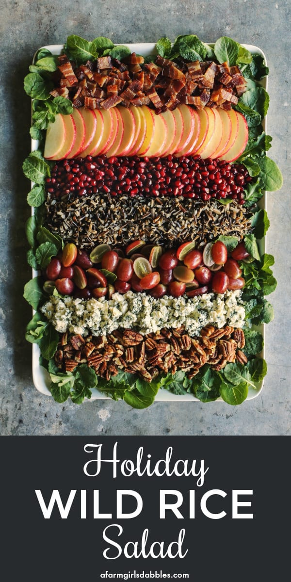 pinterest image of Holiday Wild Rice Salad