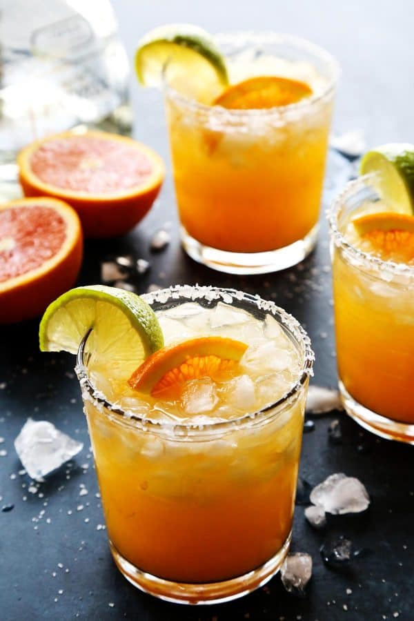 Orange Margarita in a Short Glass
