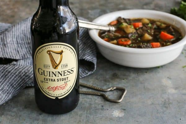Guinness Extra Stout with Irish Beef Stew #guinness #beer #stout #beef #stew #irish