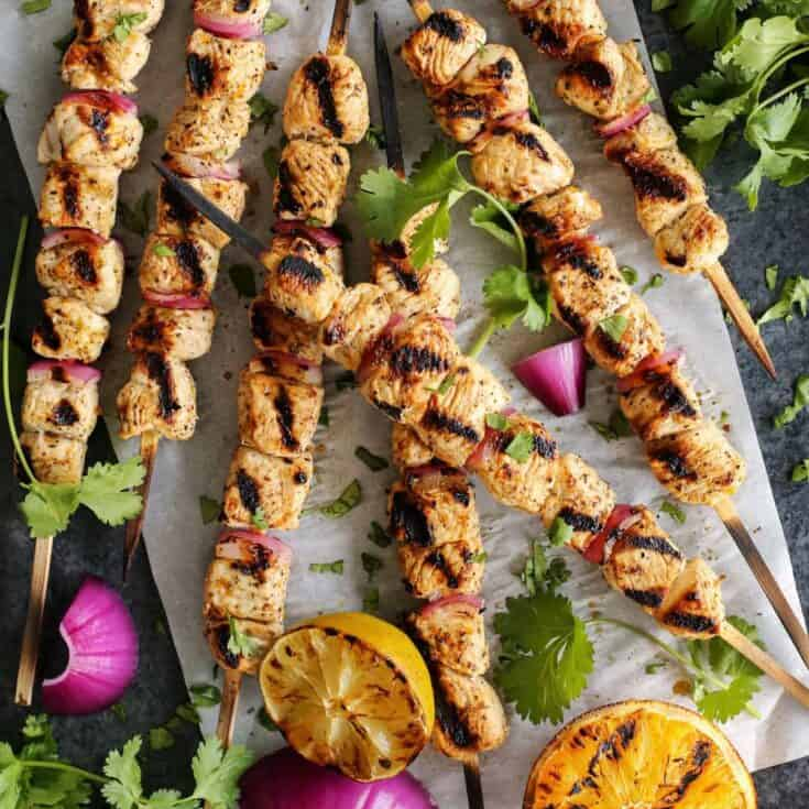 Grilled Margarita Turkey Kebabs