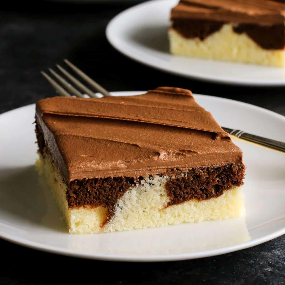 Marble Cake • Easy Marble Cake Recipe • A Farmgirl's Dabbles