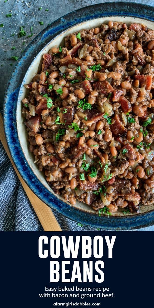 pinterest image of Cowboy Beans