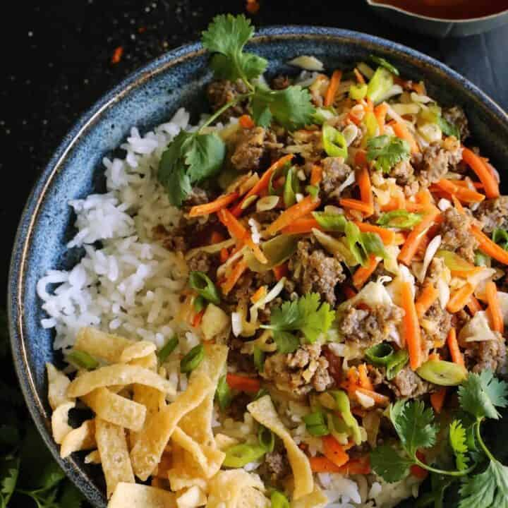 easy egg roll dish
