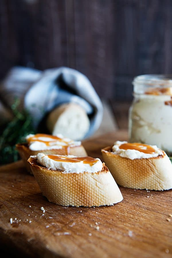 Whipped Goat Cheese and Honey Spread