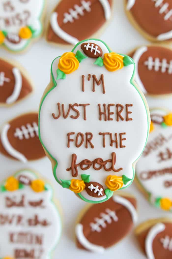 Super Bowl Thoughts Cookies