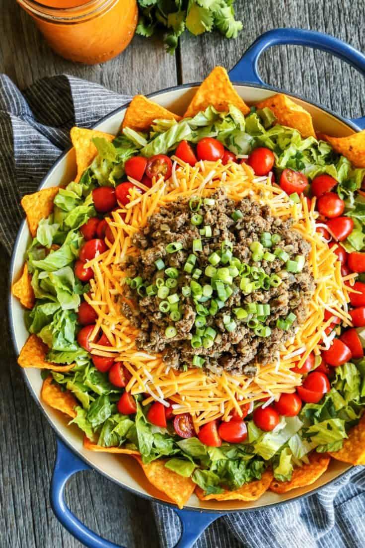Taco Salad with Creamy Taco Dressing