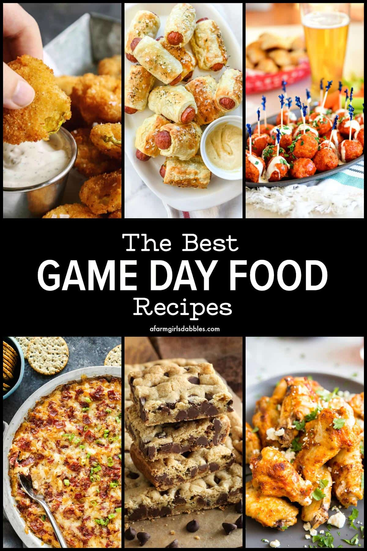 a collection of the best savory and sweet game day food recipes