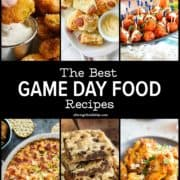 PInterest image of game day foods