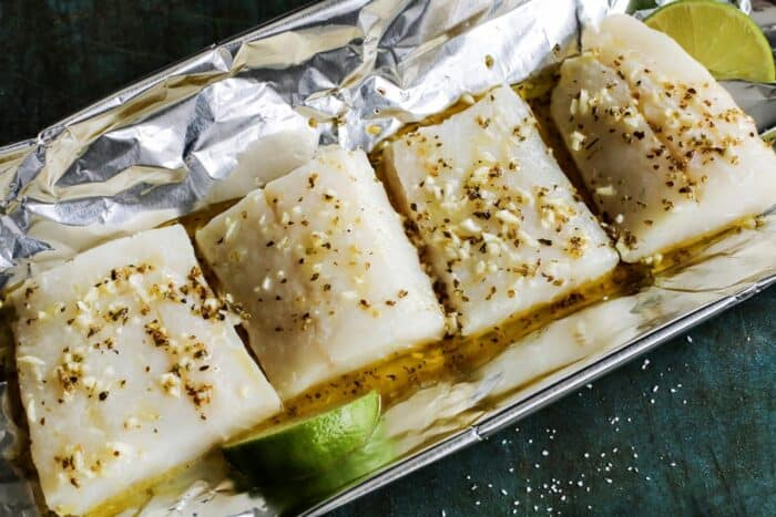 cod in a foil packet
