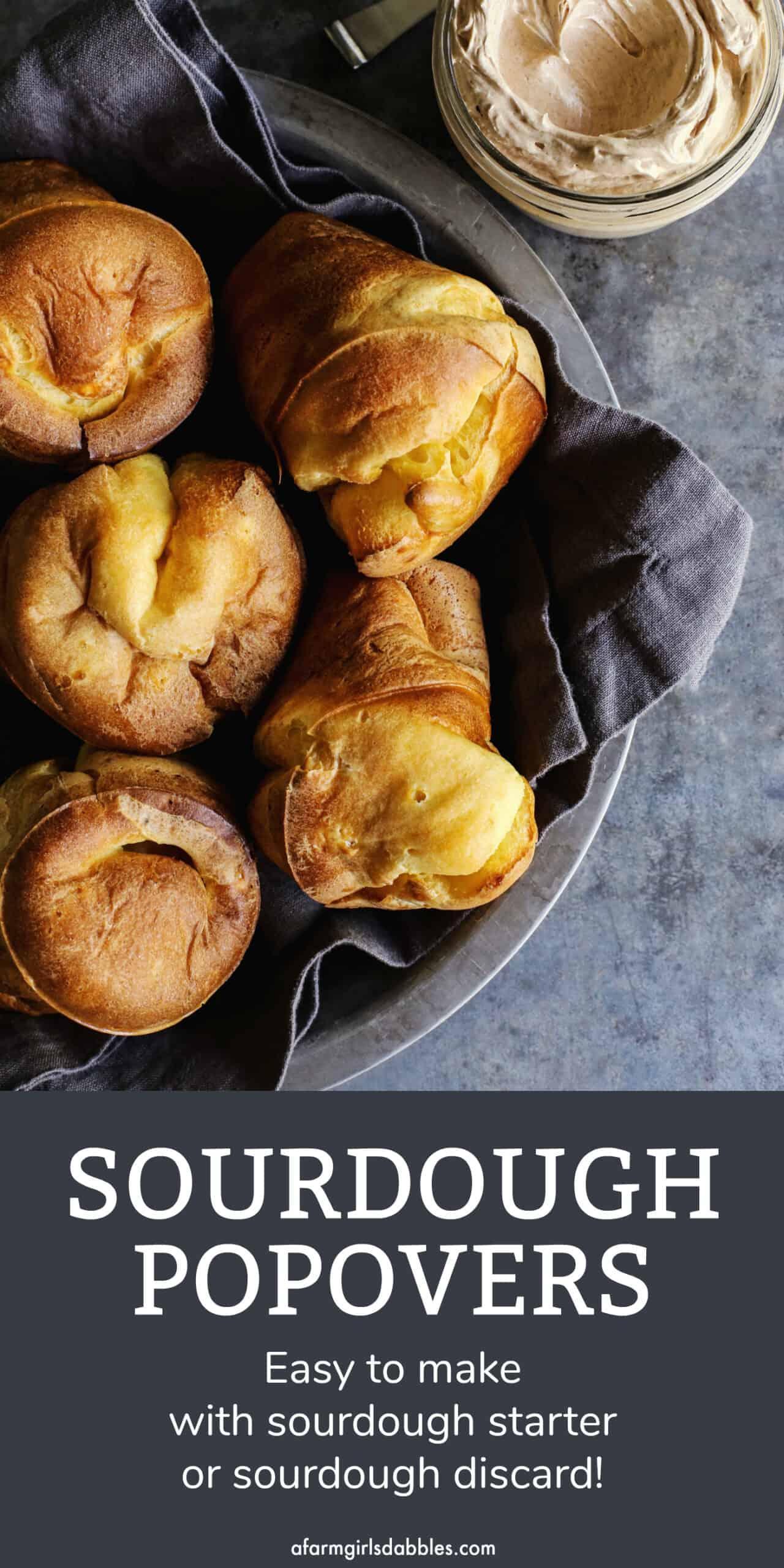 Pinterest image for sourdough popovers