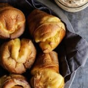 basket of fresh popovers