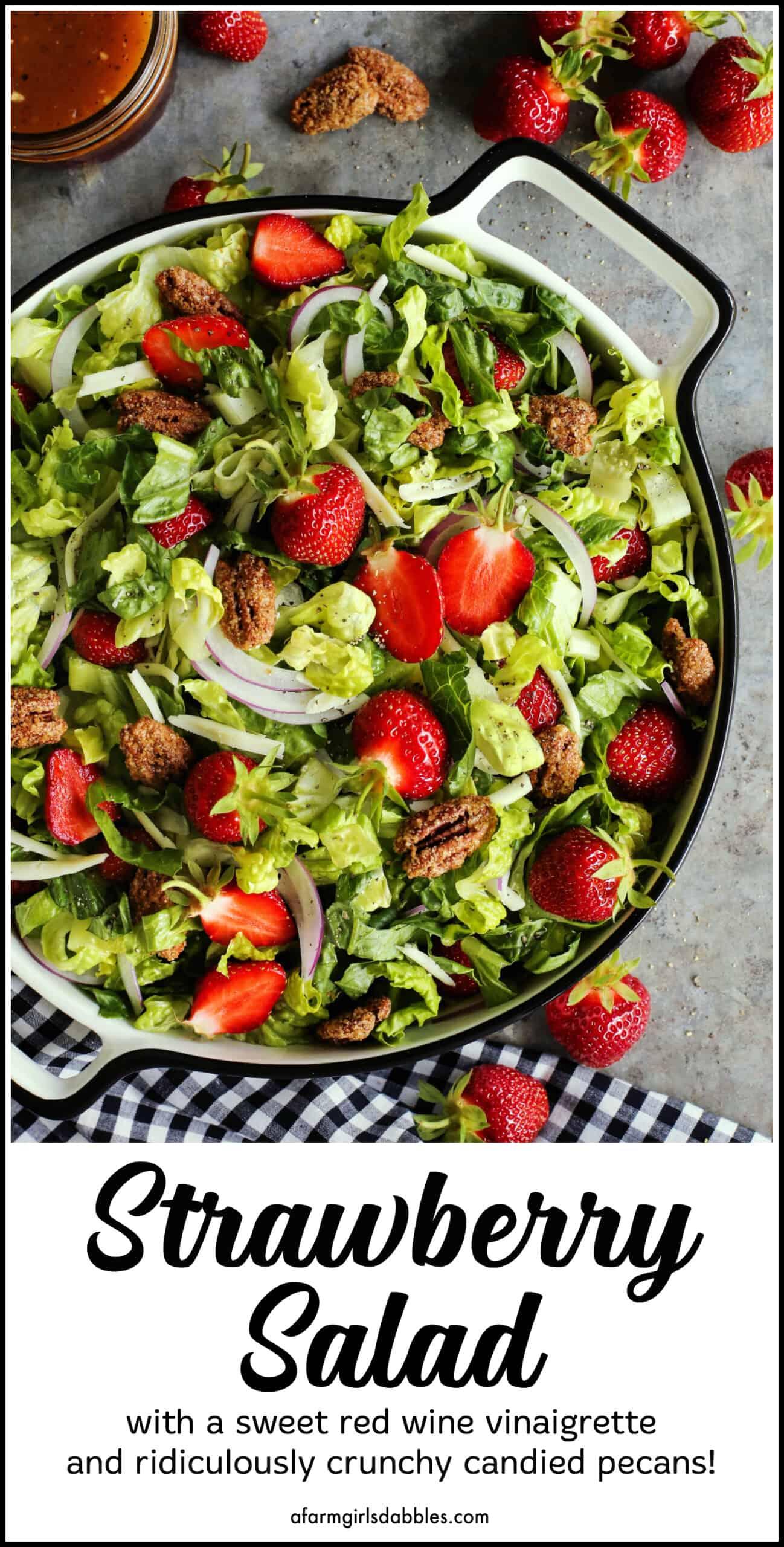 Pinterest image of strawberry salad