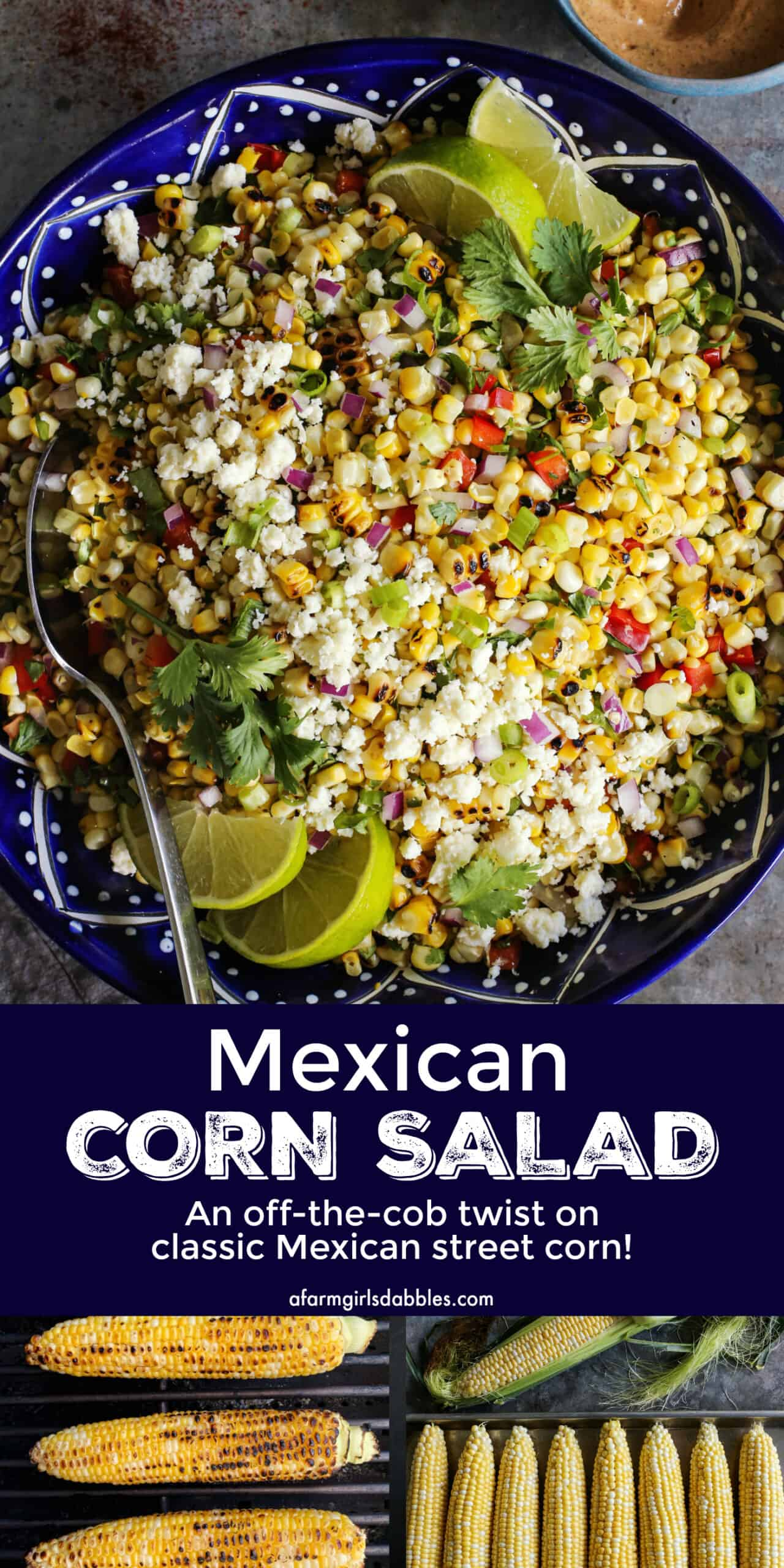 Pinterest image of Mexican corn salad