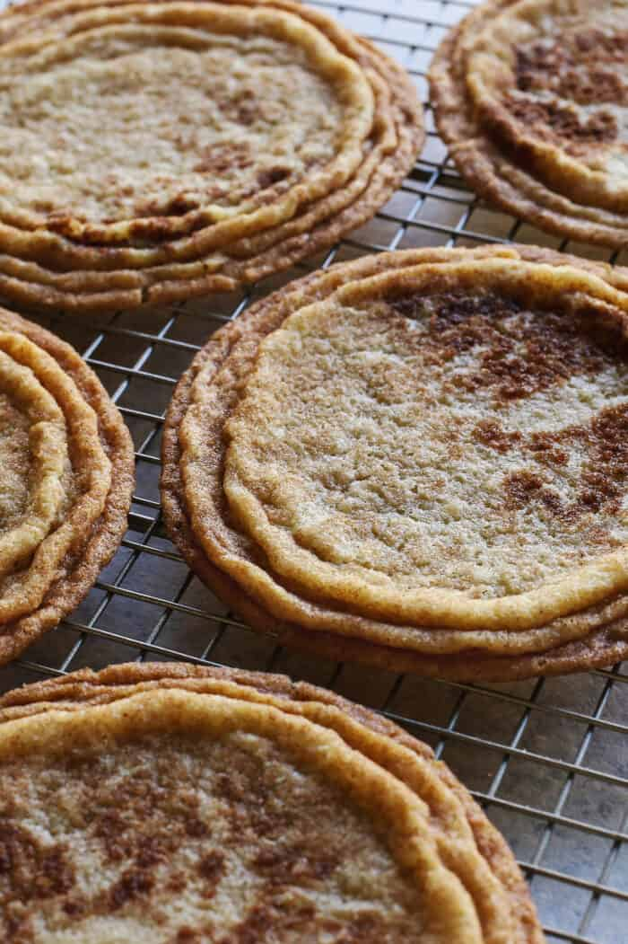 close-up photo of outer ripples on pan-banging cookies