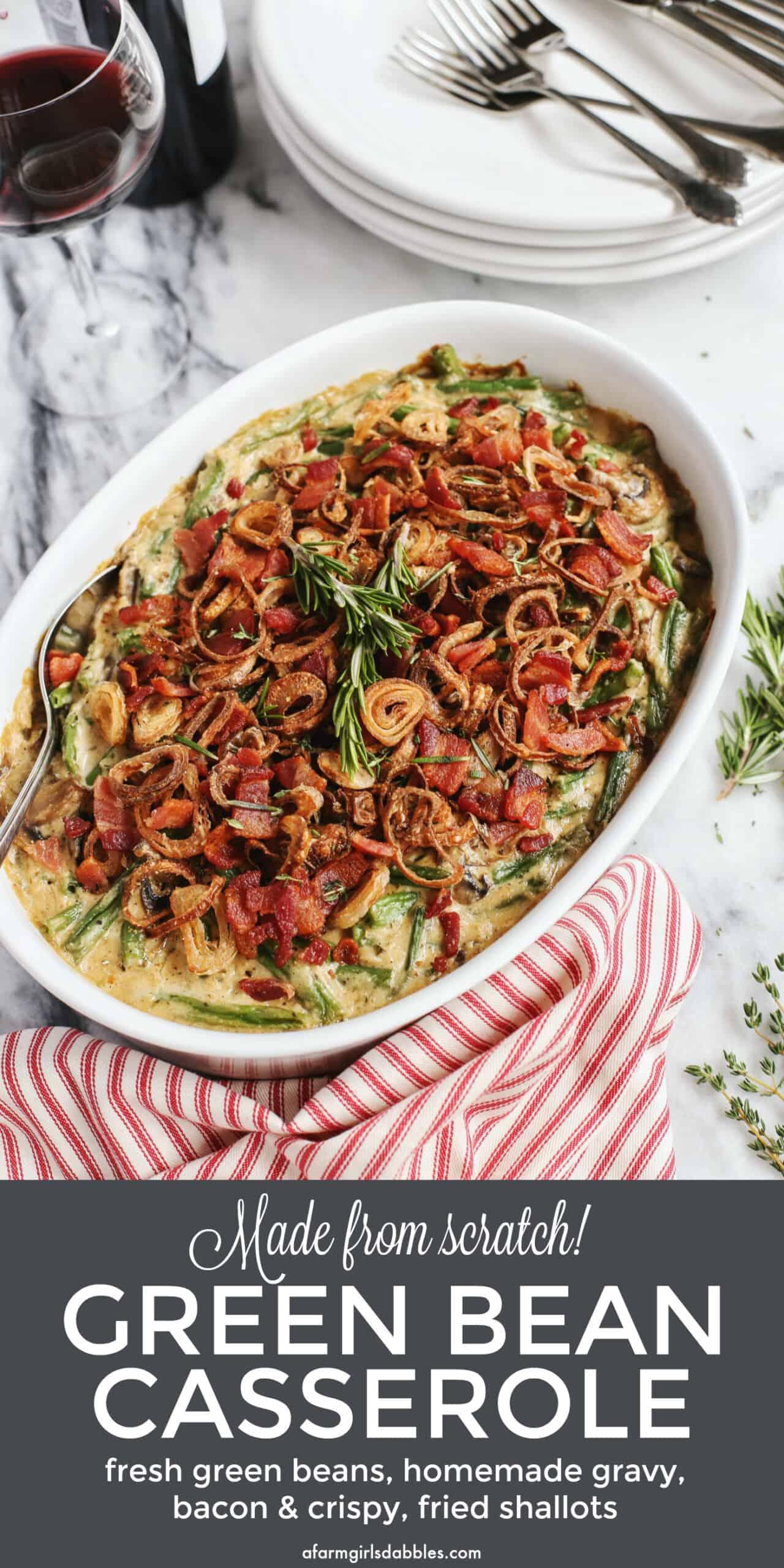 Pinterest image for Green Bean Casserole