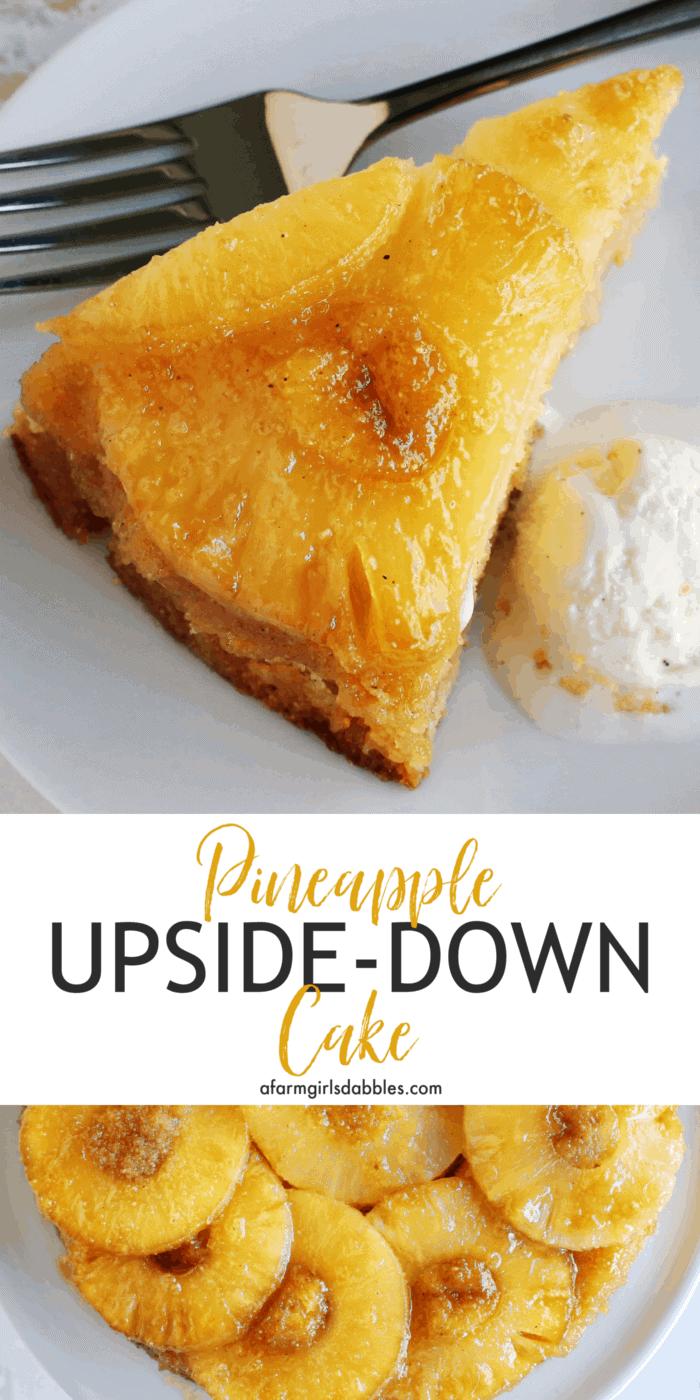 Pinterest image for pineapple upside-down cake