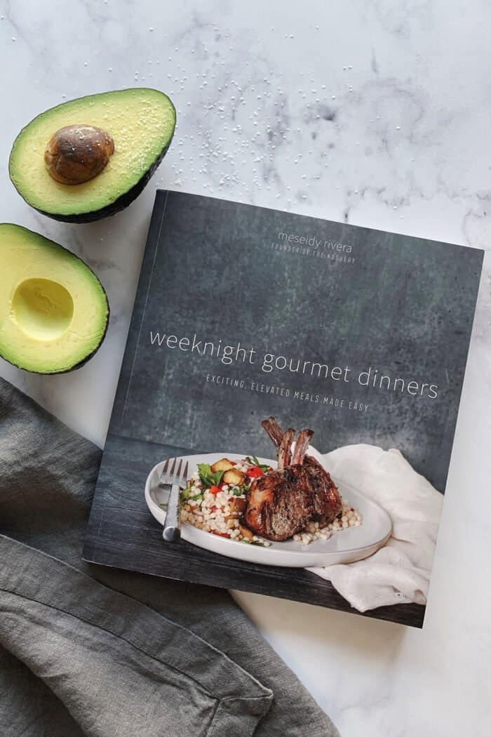 Weeknight Gourmet Dinners cookbook by Meseidy Rivera