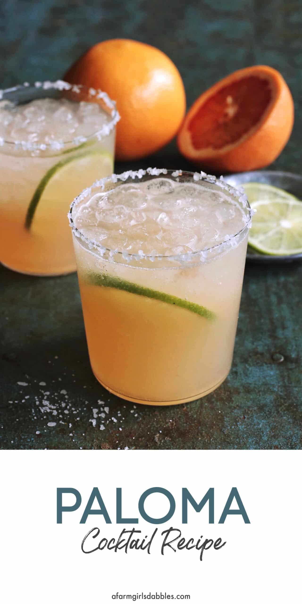 Pinterest image for Paloma Cocktail Recipe