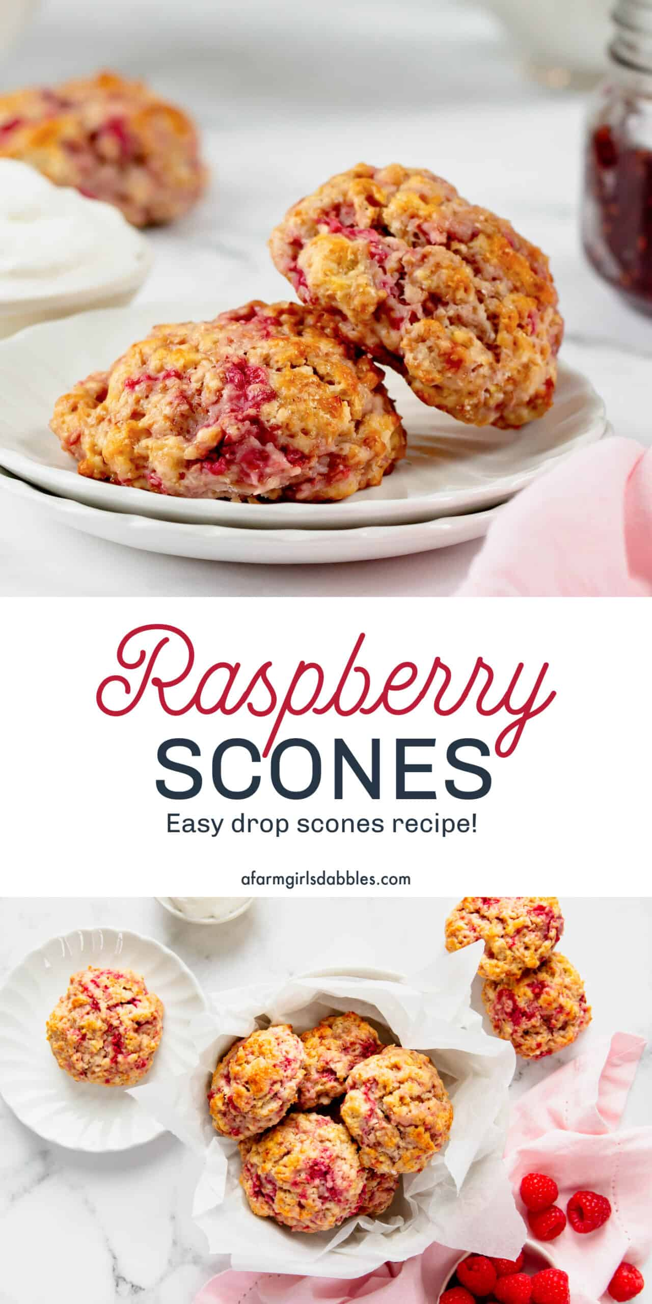 Pinterest image for raspberry scones